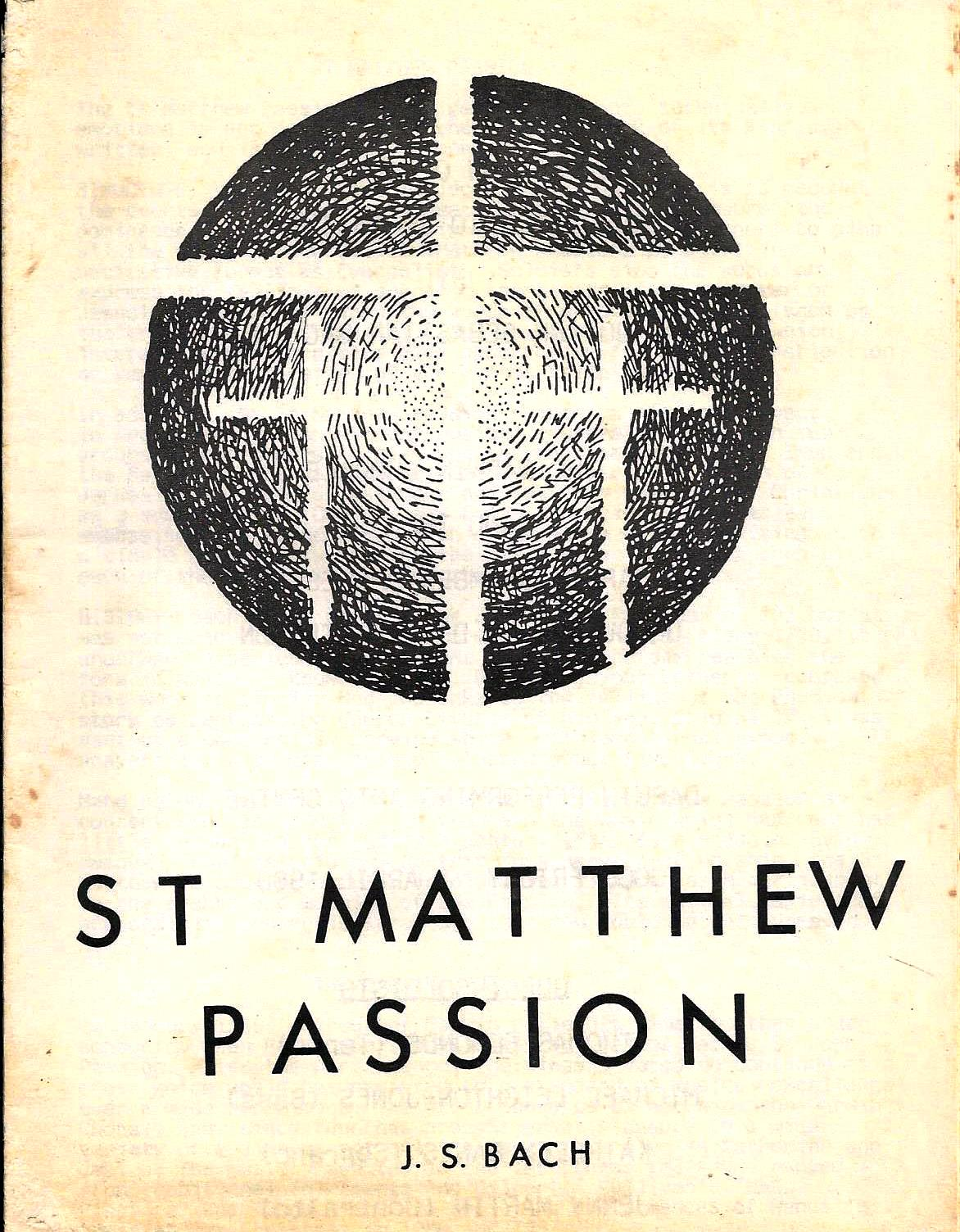 St Matthew Passion 1988