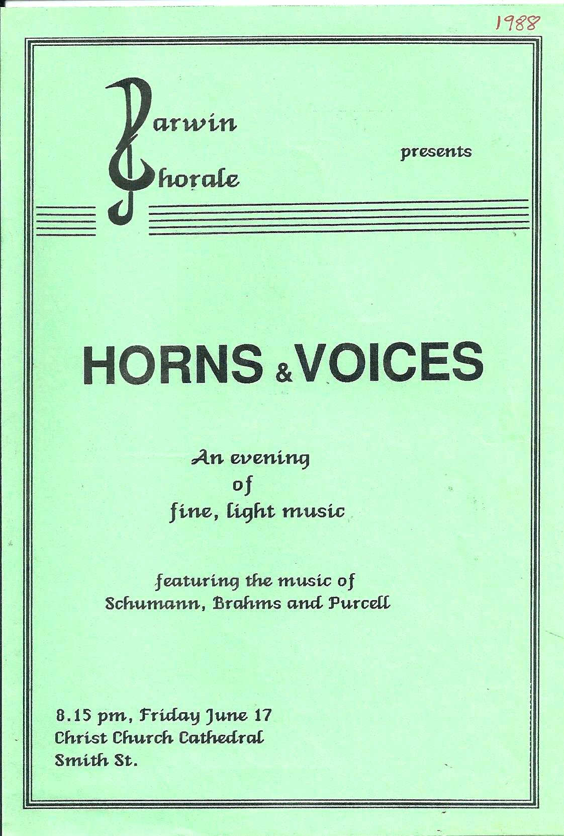 Horns and Voices 1988