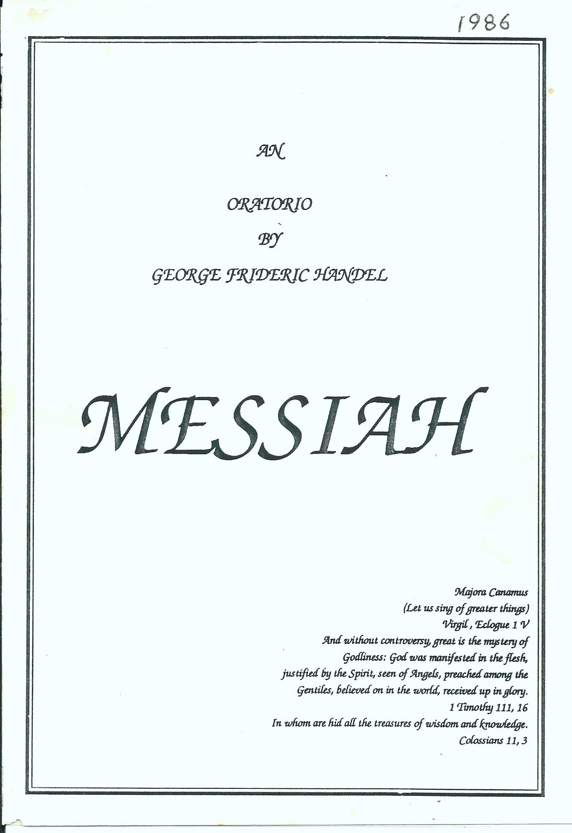 Messiah 1986