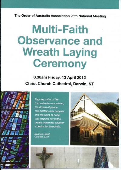 Multi-Faith Observance and Wreath Laying Ceremony